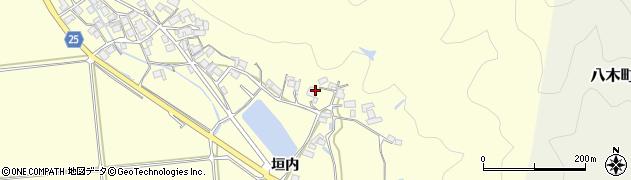 京都府南丹市八木町船枝(垣内)周辺の地図