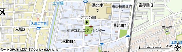 愛知県名古屋市港区港北町周辺の地図