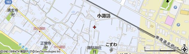 静岡県沼津市小諏訪周辺の地図