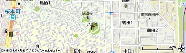 八剣社周辺の地図