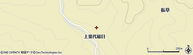 愛知県北設楽郡東栄町振草上粟代稲目平周辺の地図