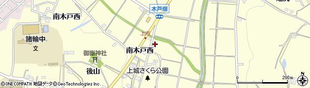 愛知県愛知郡東郷町諸輪上前田周辺の地図