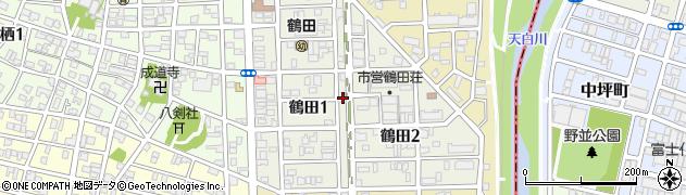 愛知県名古屋市南区鶴田周辺の地図
