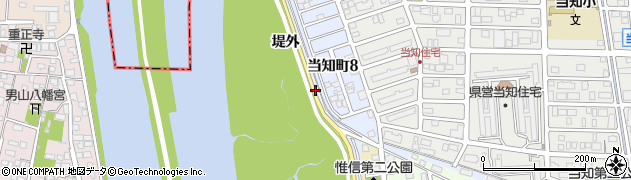愛知県名古屋市港区当知町(堤外)周辺の地図