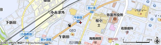 奈津周辺の地図