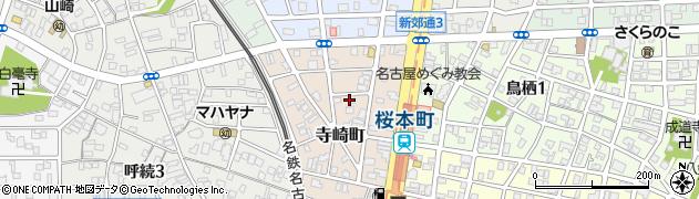 愛知県名古屋市南区寺崎町周辺の地図