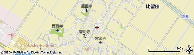 滋賀県野洲市比留田周辺の地図