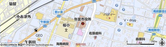愛知県弥富市周辺の地図