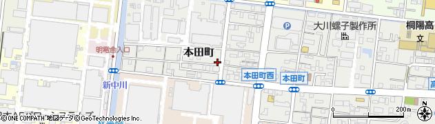 静岡県沼津市本田町周辺の地図
