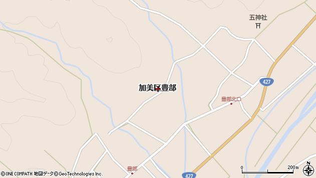 〒679-1201 兵庫県多可郡多可町加美区豊部の地図