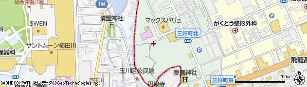 静岡県三島市三好町周辺の地図