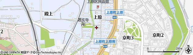 愛知県豊田市上原町(上原)周辺の地図