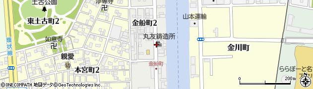 愛知県名古屋市港区金船町周辺の地図