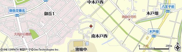 愛知県愛知郡東郷町諸輪南木戸西周辺の地図