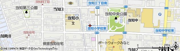 愛知県名古屋市港区当知周辺の地図