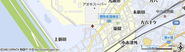 愛知県弥富市小島町半兵衛分周辺の地図