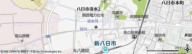 滋賀県東近江市八日市清水周辺の地図
