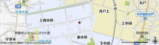 愛知県豊田市越戸町(東小笹)周辺の地図