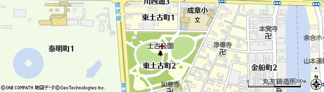 愛知県名古屋市港区東土古町周辺の地図