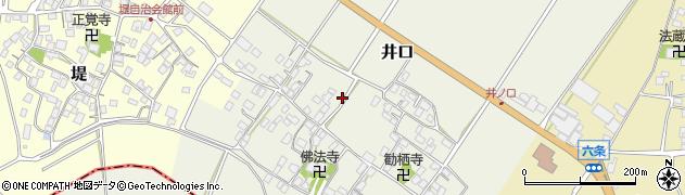 滋賀県野洲市井口周辺の地図