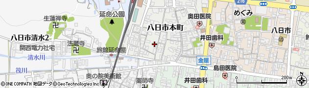 滋賀県東近江市八日市本町周辺の地図