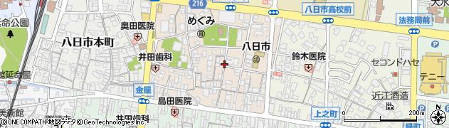 滋賀県東近江市八日市町周辺の地図