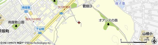 愛知県名古屋市天白区菅田周辺の地図