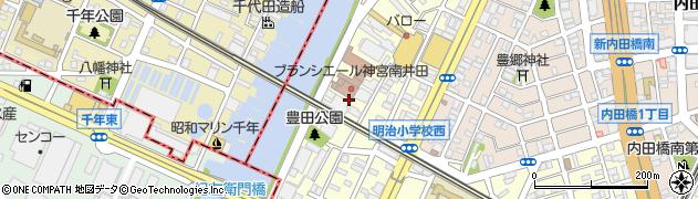 愛知県名古屋市南区明治周辺の地図