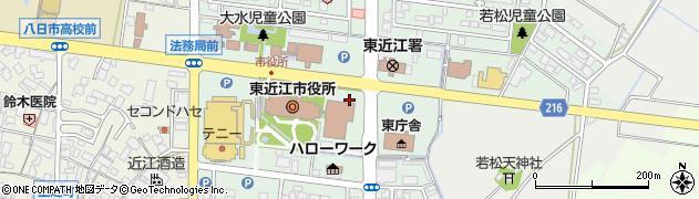 滋賀県東近江市八日市緑町周辺の地図