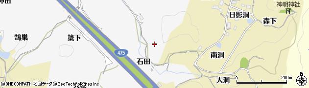 愛知県豊田市滝見町(石田)周辺の地図