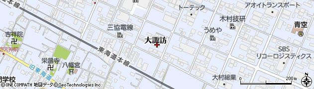 静岡県沼津市大諏訪周辺の地図