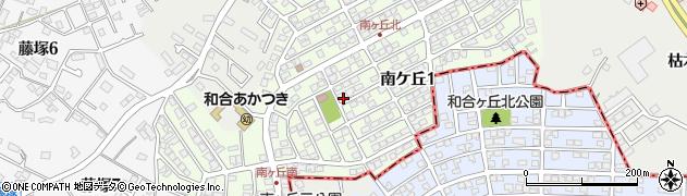 愛知県日進市南ケ丘周辺の地図