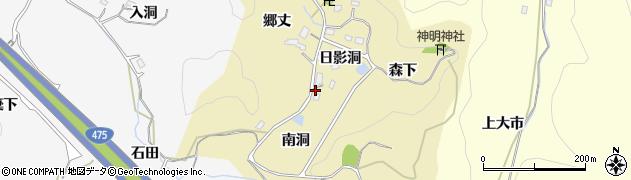 愛知県豊田市小呂町(南洞)周辺の地図