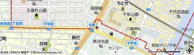 ろばた焼伊志川周辺の地図