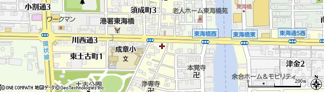 愛知県名古屋市港区小碓町(南堤起)周辺の地図