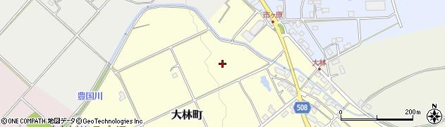 滋賀県東近江市大林町周辺の地図