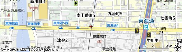 愛知県名古屋市港区熱田新田東組(十一番割)周辺の地図