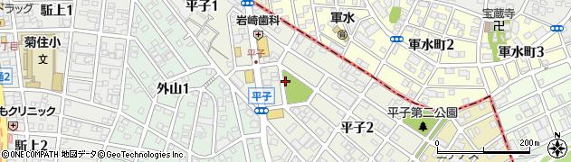 愛知県名古屋市南区平子周辺の地図