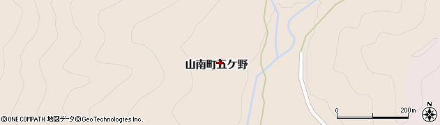 兵庫県丹波市山南町五ケ野周辺の地図