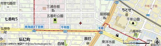 愛知県名古屋市熱田区三番町周辺の地図