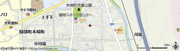 京都府南丹市園部町木崎町(下ヲサ)周辺の地図
