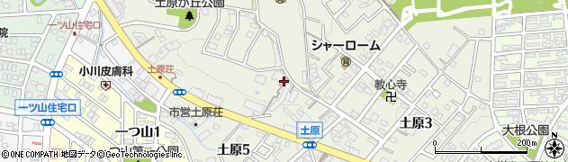 愛知県名古屋市天白区土原周辺の地図
