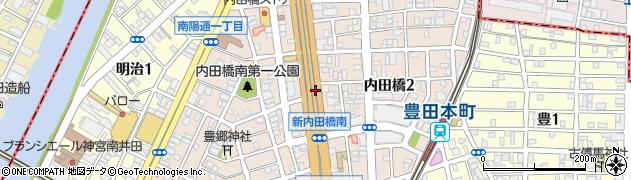 愛知県名古屋市南区内田橋周辺の地図