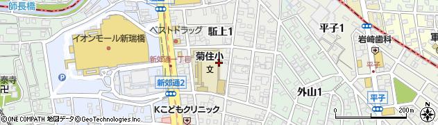 愛知県名古屋市南区駈上周辺の地図
