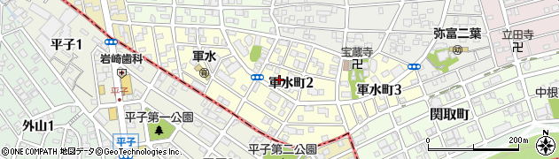 愛知県名古屋市瑞穂区軍水町周辺の地図