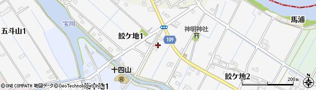 愛知県弥富市鮫ケ地周辺の地図
