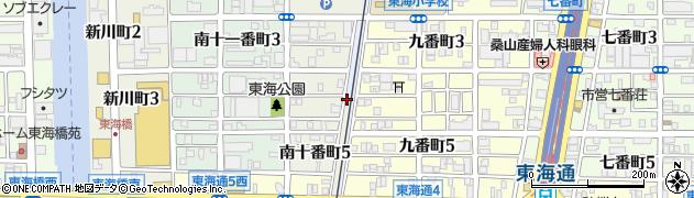 愛知県名古屋市港区熱田新田東組周辺の地図