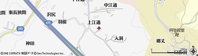 愛知県豊田市滝見町(上江通)周辺の地図