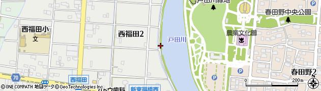 愛知県名古屋市港区南陽町大字西福田(川仲)周辺の地図