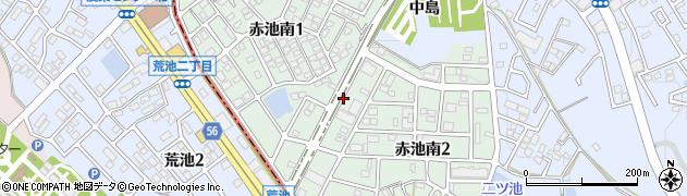 愛知県日進市赤池南周辺の地図